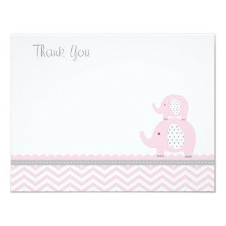 Pink Elephant Thank You Card 11 Cm X 14 Cm Invitation Card