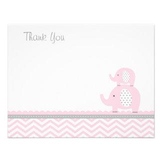 Pink Elephant Thank You Card