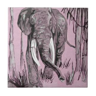 Pink Elephant Ceramic Tile