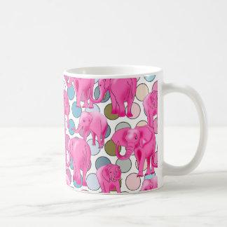 Pink Elephants Basic White Mug