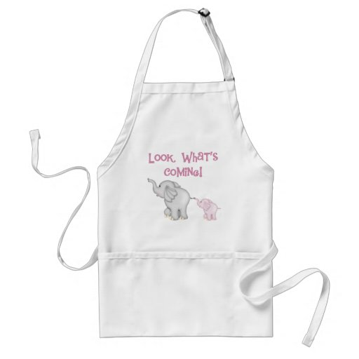 Pink Elephants Look What's Coming Aprons
