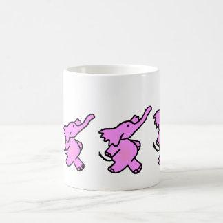 Pink Elephants on Parade Basic White Mug