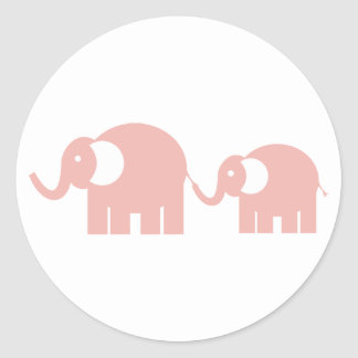 Pink Elephants Stickers