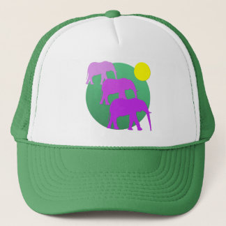 Pink Elephants Trucker Hat