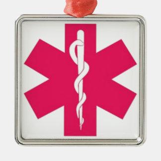 Pink EMT Christmas Ornament