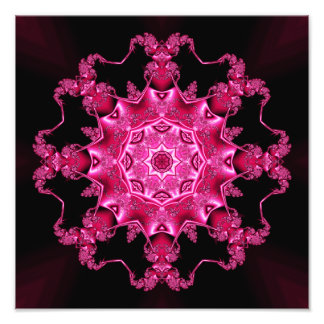 Pink enamel fibula photo art