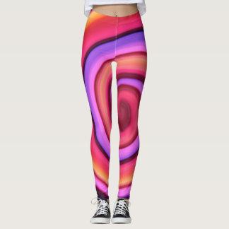 Pink energy spiral leggings