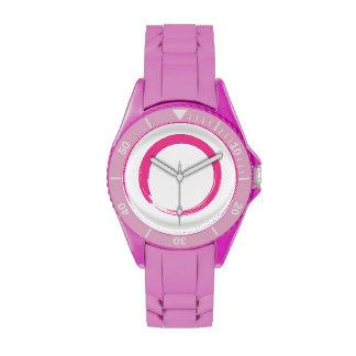 Pink Enso Open Circle Wristwatch