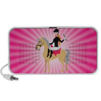Pink Equestrian Girl iPhone Speaker