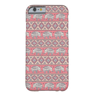 Pink Ethnic Elephant Pattern Barely There iPhone 6 Case