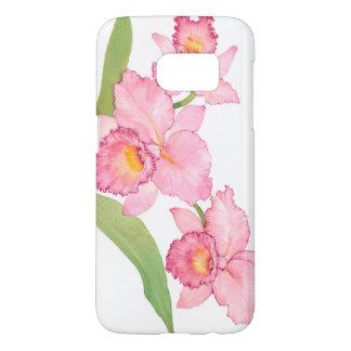 Pink Exotic Watercolor Flowers