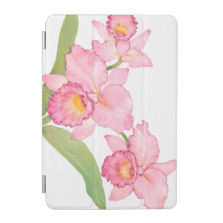 Pink Exotic Watercolor Flowers iPad Mini Cover