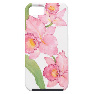 Pink Exotic Watercolor Flowers iPhone 5 Cases