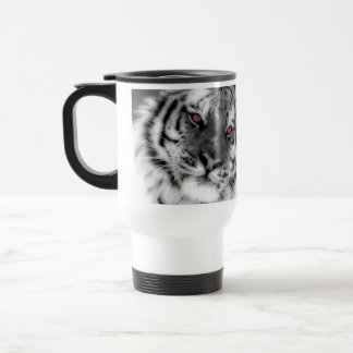 Pink Eyed Tiger Travel Mug