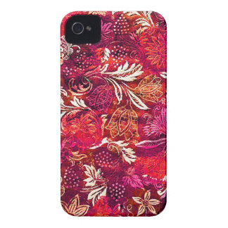 Pink Fabric Patterned iPhone4 Case iPhone 4 Case-Mate Case