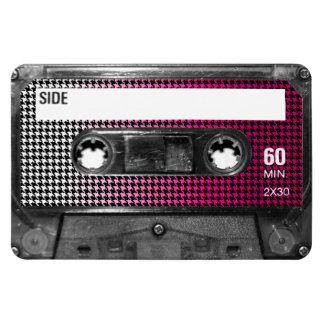 Pink Fade Label Houndstooth Cassette Magnets