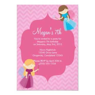 Pink Fairies Birthday Invitation