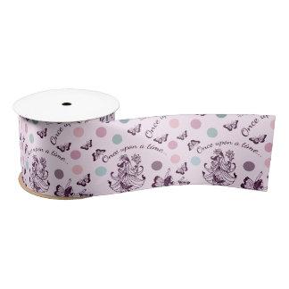 Pink Fairies, Butterflies and Colorful Polka Dots Satin Ribbon