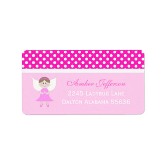 Pink Fairy Address Labels