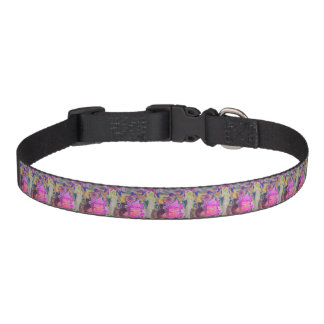 Pink Fairy Angel Butterfly and Flowers Pet Collar