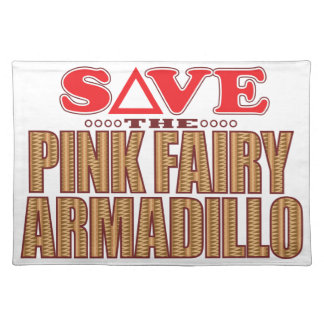 Pink Fairy Armadillo Save Placemat