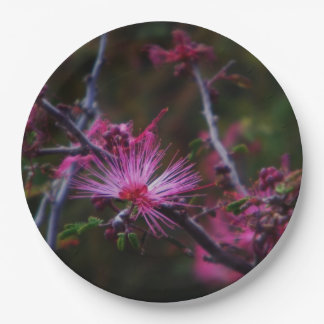 Pink Fairy duster Paper Plate