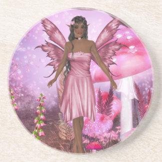 Pink Fairy Garden Coaster