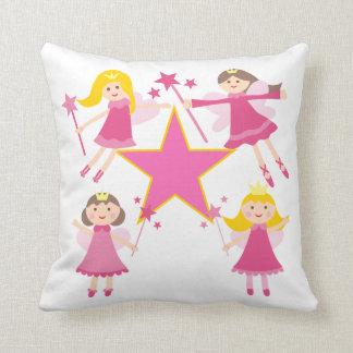 Pink Fairy Princesses Pillow