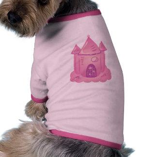 Pink Fairytale Castle Ringer Dog Shirt