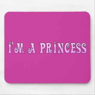 PINK FAIRYTALE IM A PRINCESS SAYING COMMENT ATTITU MOUSE PADS