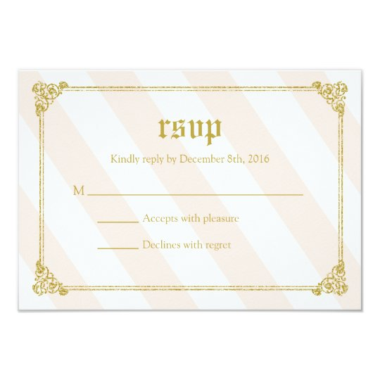 Pink Fairytale Princess Baby Shower RSVP Card