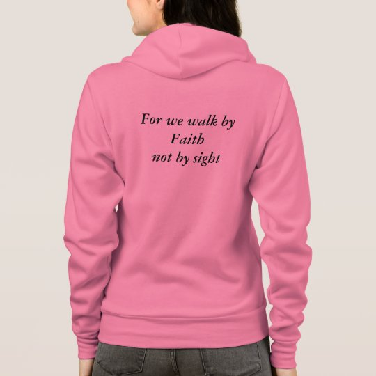 Pink Faith Women's Canvas Fleece Raglan Zip Hoodie
