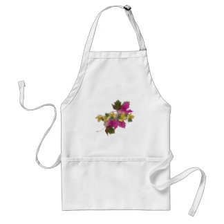 Pink Fall Leaves Adult Apron