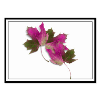 Pink Fall Leaves Large Business Cards (Pack Of 100)