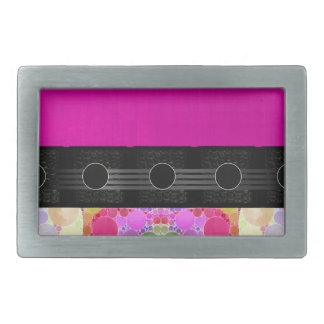 Pink Fancy Abstract Rectangular Belt Buckle