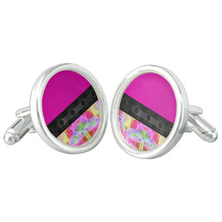 Pink Fancy Abstract Cufflinks