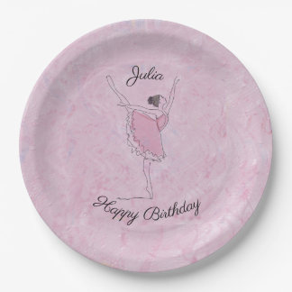 Pink Fantasy Ballerina Paper Plate