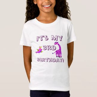 Pink fantasy Giraffe illustration T-Shirt