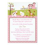 Pink Farm Animal Baby Shower Invitations