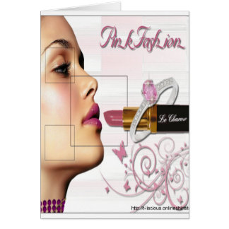 Pink Fashion - Note Card