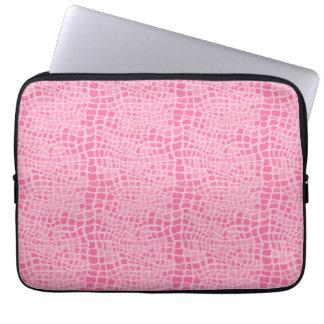 Pink FAUX Snakeskin Pattern Laptop Sleeve