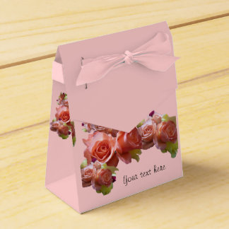 Pink Favour box with Roses (customise)