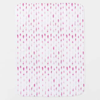 Pink Feathers Baby Blanket