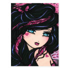 Pink Feathers Fairy Fantasy Art Postcard
