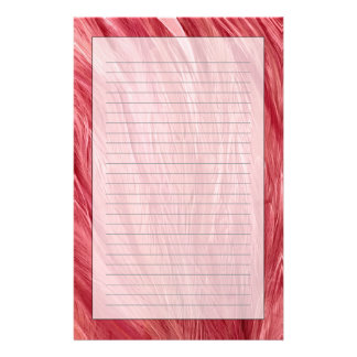 Pink Feathers Stationery