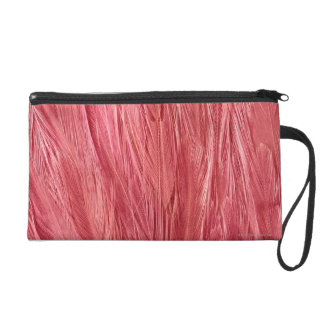 Pink Feathers Wristlet