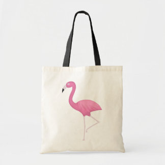 pink feathery flamingo tote bag