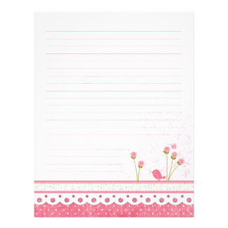 Pink Feel Better Binder Lined Flyers