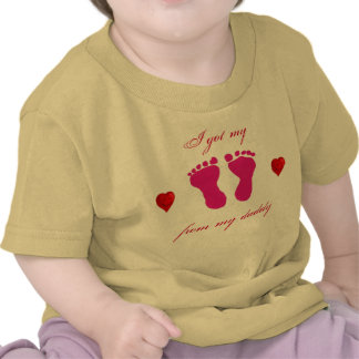 pink feet baby t-shirt for daddy
