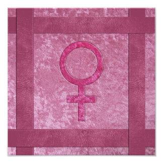 Pink Female Symbol Photographic Print